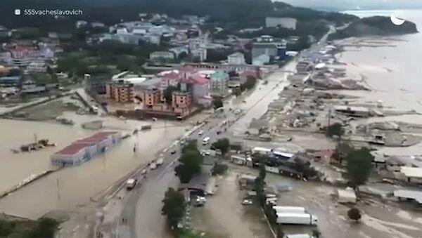 Последствия паводка на кубанских курортах. Кадры с коптера - Sputnik Армения