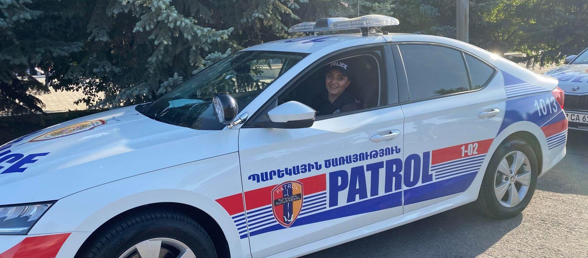 Патрульные полицейские в Ереване - Sputnik Արմենիա, 1920, 07.07.2021