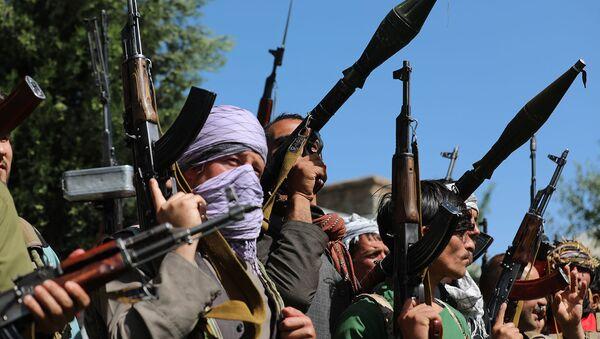 Силы ополчения во время собрания в Кабуле, когда Талибан захватил весь север (23 июня 2021). Афганистан - Sputnik Армения