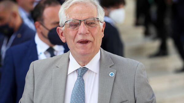 Глава внешнеполитического ведомства Европейского союза Жозеф Боррелл прибывает на встречу министров иностранных дел и развития G20 (29 июня 2021). Матера, Италия - Sputnik Армения