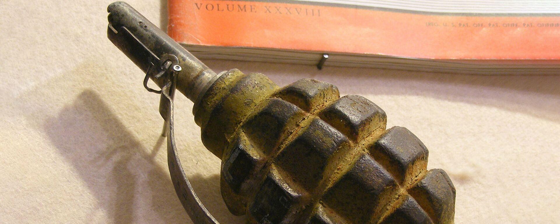 Ручная противопехотная оборонительная граната Ф-1 (лимонка) - Sputnik Արմենիա, 1920, 20.08.2021