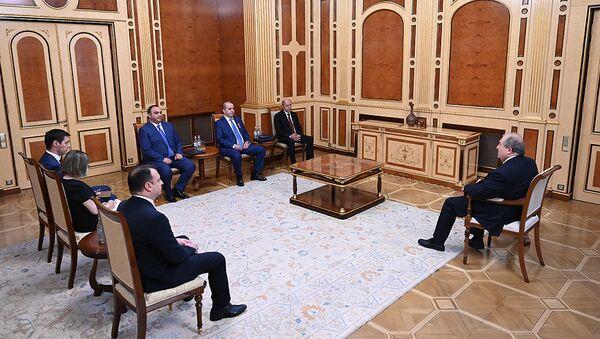 Президент Армен Саркисян принял руководителей полиции, СНБ и СГБ  - Sputnik Армения