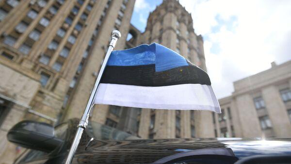 Автомобиль посла Эстонии у здания МИД РФ в Москве - Sputnik Армения