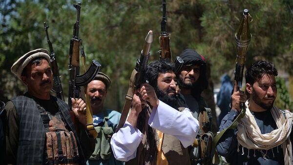 Поддерживающие силы безопасности Афганистана в борьбе с талибами добровольцы в районе Гузара, Афганистан - Sputnik Армения