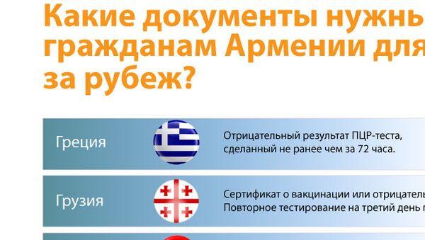 Какие документы нужны гражданам Армении для выезда за рубеж? - Sputnik Армения
