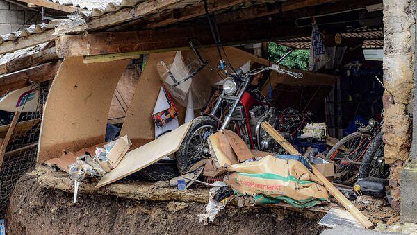 Разрушения после наводнения в Эрфтштадт-Блессем (16 июля 2021). Германия - Sputnik Армения