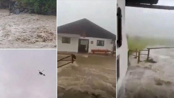 Наводнение в Гармиш-Партенкирхене, Верхняя Бавария, Германия - Sputnik Արմենիա