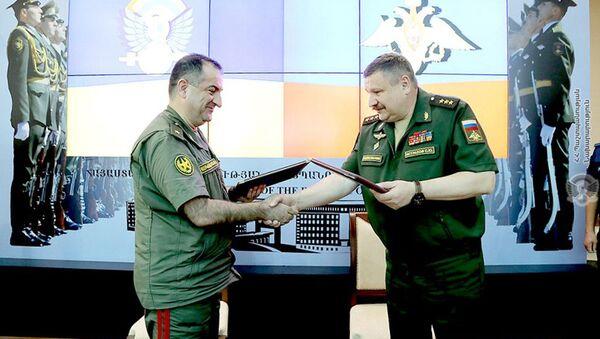Подведение итогов штабных переговоров вооруженных сил Армении и России (17 июля 2021). Еревaн - Sputnik Армения