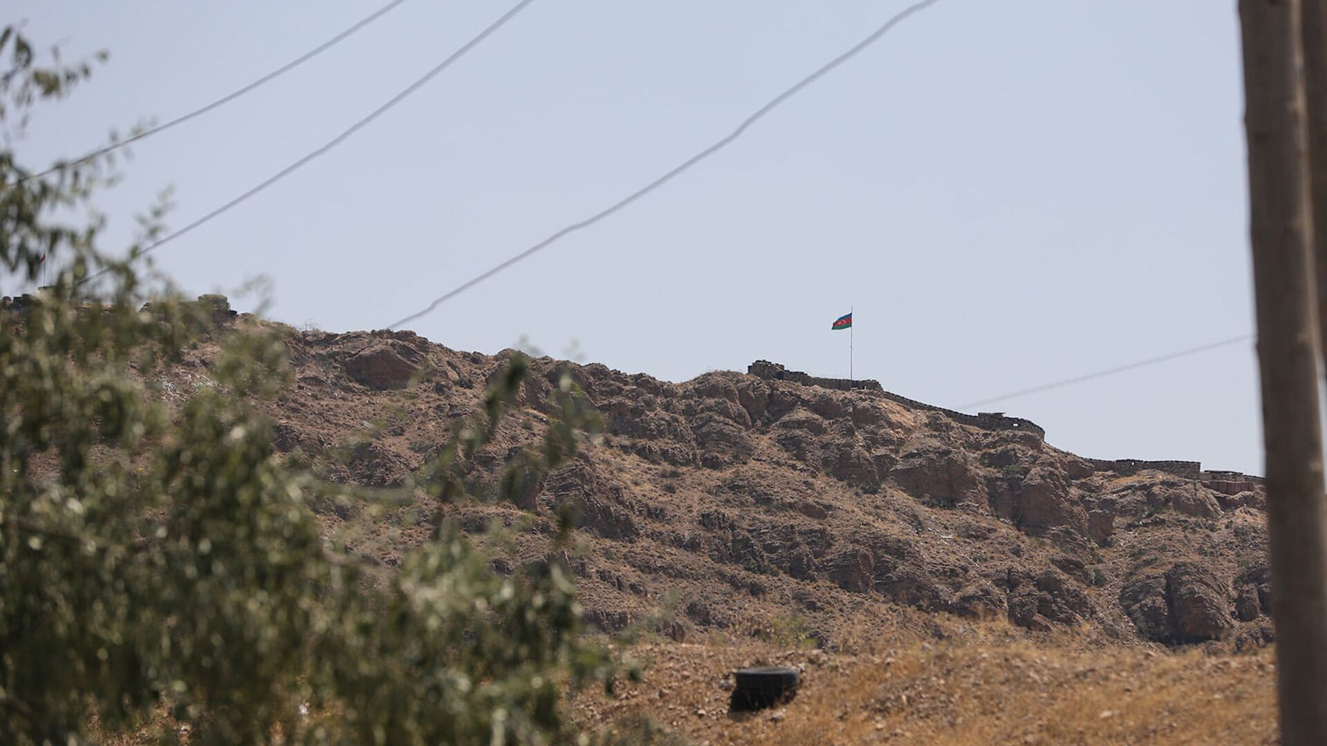 Азербайджанский приграничный пост на границе близ села Ерасх - Sputnik Արմենիա, 1920, 12.08.2021