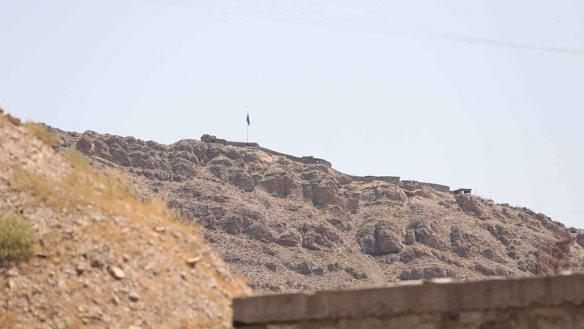 Азербайджанский приграничный пост на границе близ села Ерасх - Sputnik Արմենիա, 1920, 11.08.2021
