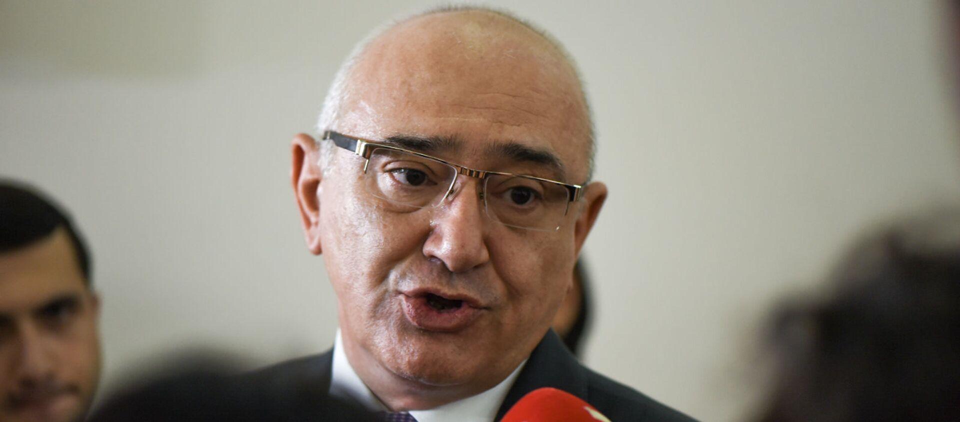 Председатель ЦИК Тигран Мукучян отвечает на вопросы журналистов (22 июля 2021). Еревaн - Sputnik Армения, 1920, 22.07.2021