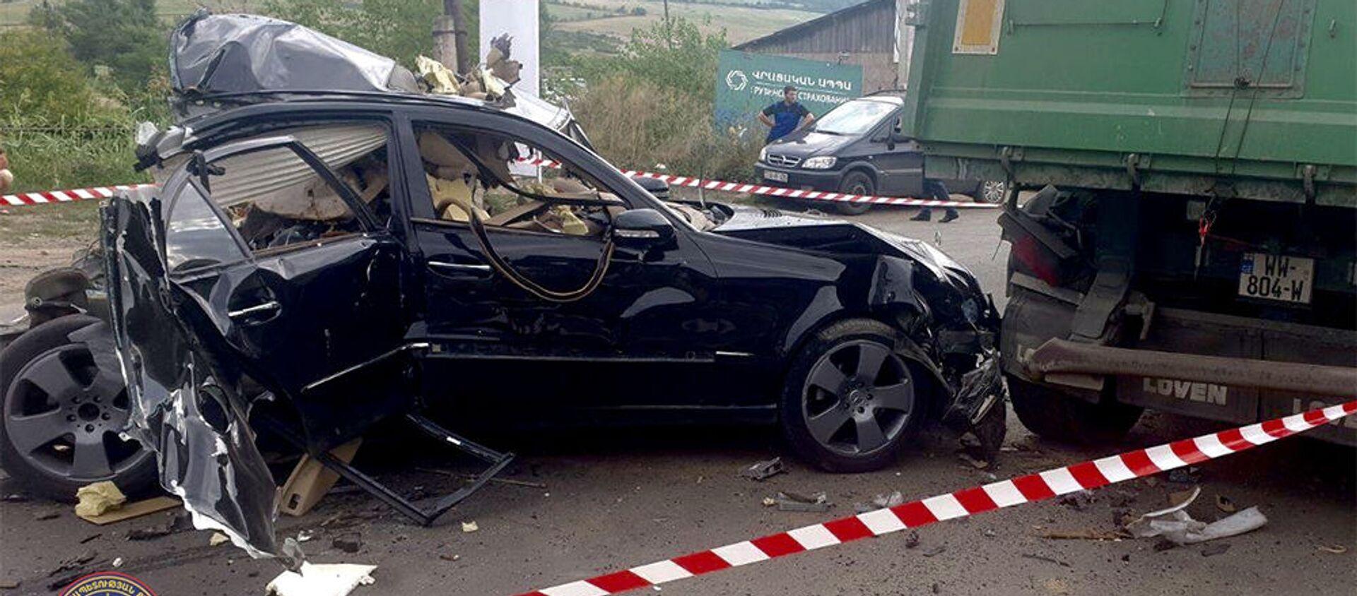 Возле Баграташенской таможни взорвался автомобильный баллон с газом - Sputnik Արմենիա, 1920, 23.07.2021