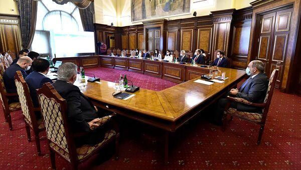 Совещание во главе с и.о. премьер-министра Николом Пашиняном по программам развития сельского хозяйства (23 июля 2021). Еревaн - Sputnik Արմենիա