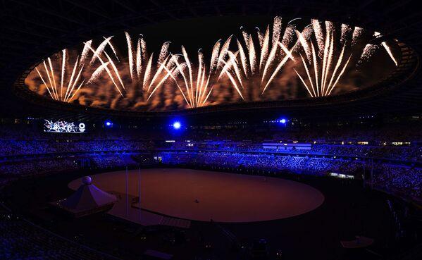 Հրավառություն Տոկիոյում՝ 32-րդ ամառային օլիմպիական խաղերի բացման արարողության ժամանակ - Sputnik Արմենիա