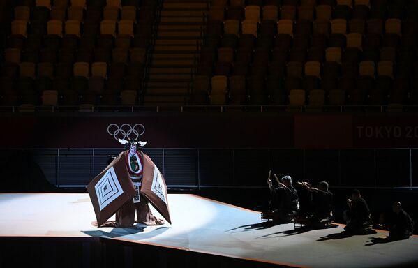 Կաբուկի թատրոնի դերասան Էբիձո Իտիկավան՝ 32-րդ ամառային օլիմպիական խաղերի բացման արարողության ժամանակ - Sputnik Արմենիա