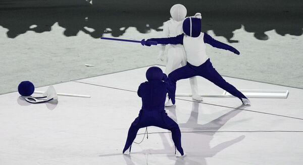 Արտիստները՝ 32-րդ ամառային օլիմպիական խաղերի բացման արարողության ժամանակ - Sputnik Արմենիա