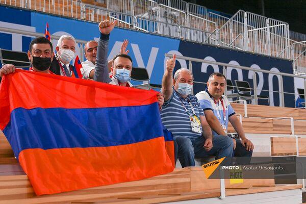 Президент Армен Саркисян на выступлении Артура Давтяна на Олимпийских играх в Токио - Sputnik Армения