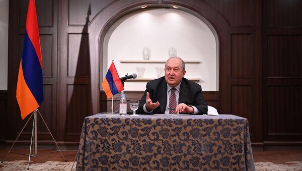 Президент Армен Саркисян встретилкся с представителями армянской диаспоры в Японии (26 июля 2021). Токио - Sputnik Армения