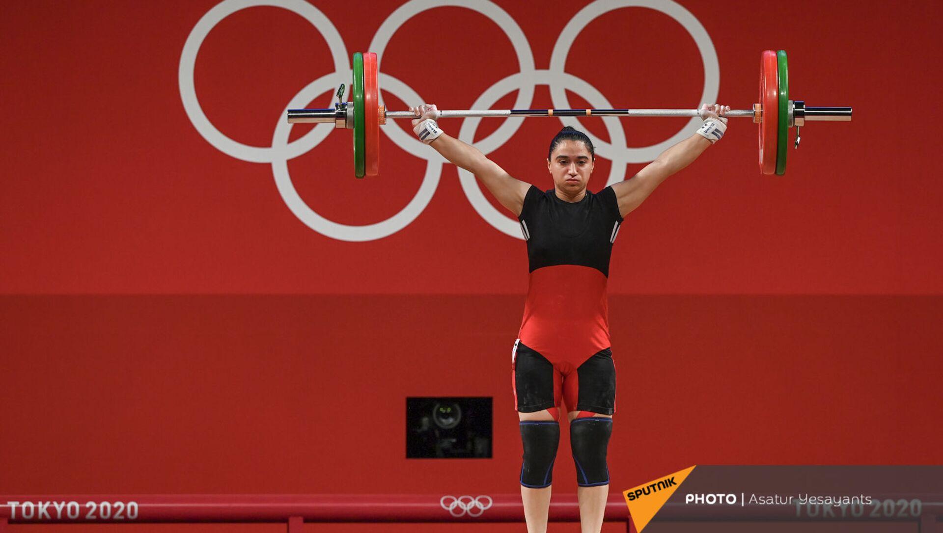 Выступление тяжелоатлетки Изабеллы Ялян на Олимпийских играх в Токио (27 июля 2021). Япония - Sputnik Արմենիա, 1920, 27.07.2021