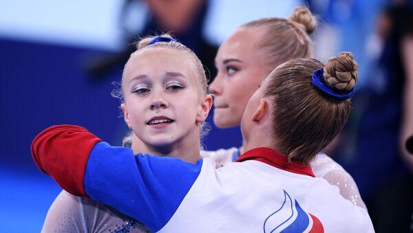 Российские спортсменки по спортивной гимнастике на Олимпийских играх в Токио - Sputnik Армения