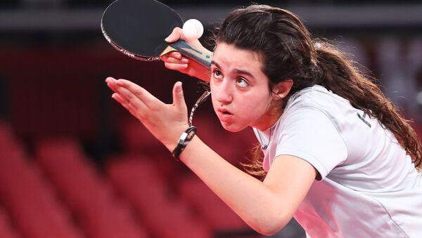 Сирийский игрок в настольный теннис Хенд Заза - Sputnik Армения