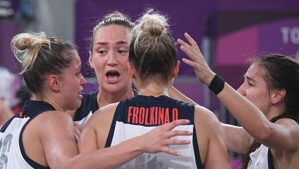 Российские спортсменки, члены сборной России по баскетболу - Sputnik Армения