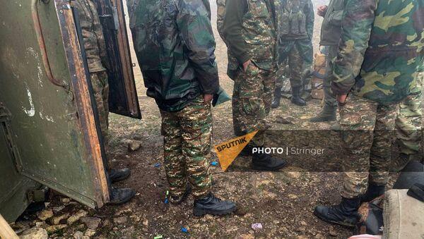 Пост армянских ВС, на который было совершено нападение азербайджанских военных - Sputnik Армения