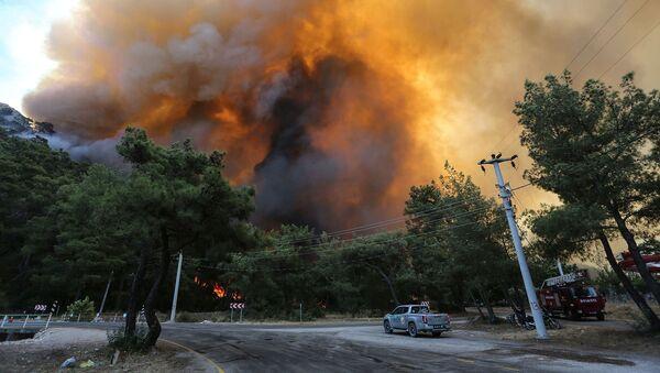 Лесной пожар недалеко от Мармариса (30 июля 2021).  Турция - Sputnik Армения