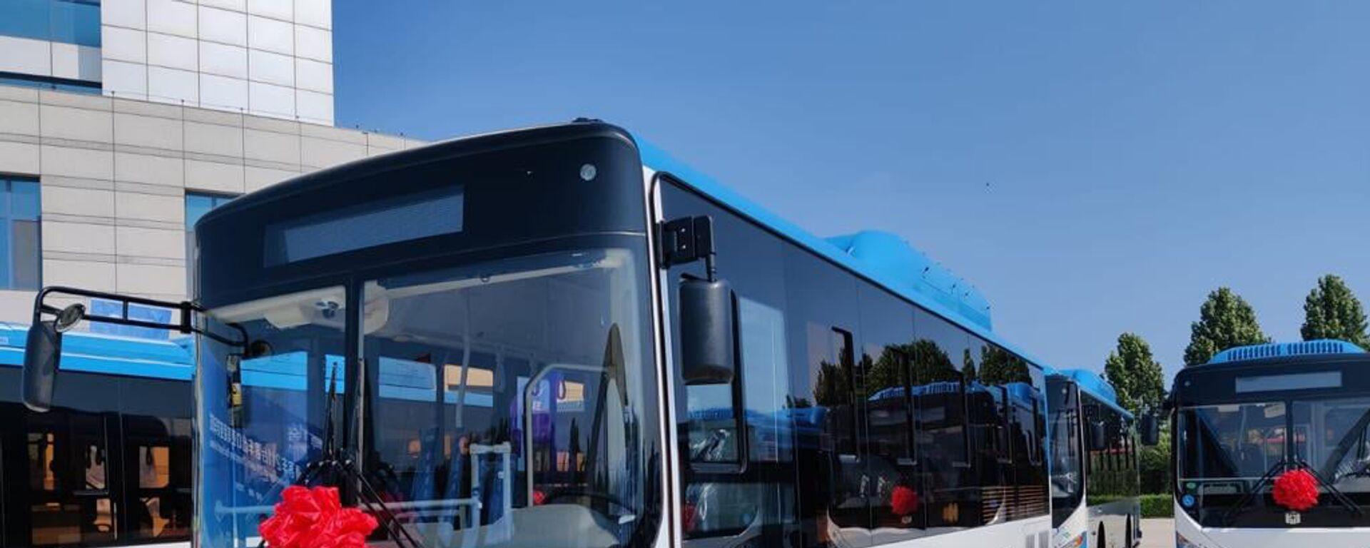 Торжественная церемония отправки новых автобусов для Еревана с завода в Китае - Sputnik Армения, 1920, 12.10.2021