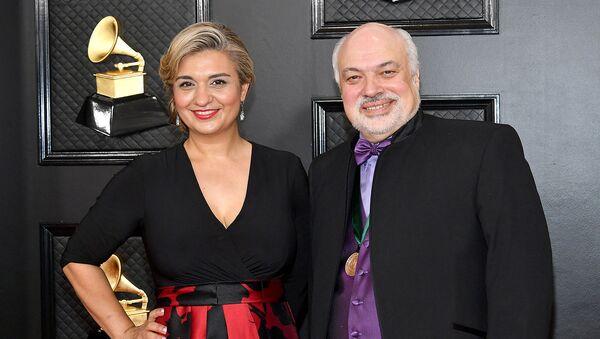 Изабель Байракдарян и Константин Орбелян на 62-й ежегодной премии ГРЭММИ (26 января 2020). Лос-Анджелес - Sputnik Արմենիա