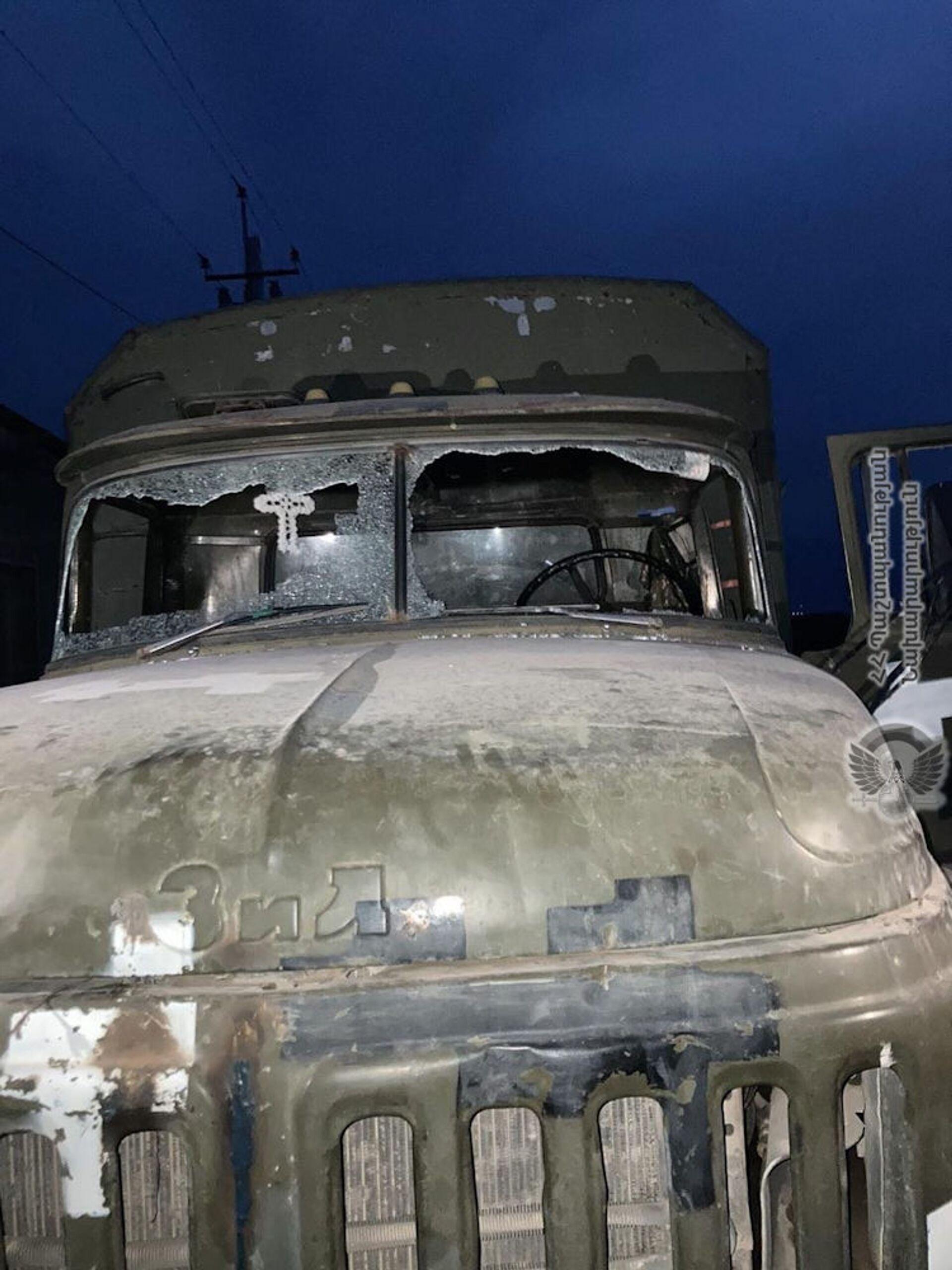 Երասխում ադրբեջանցիները կրակել են սնունդ տեղափոխող մեքենայի վրա - Sputnik Արմենիա, 1920, 31.07.2021