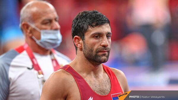 Борец греко-римской борьбы Армен Меликян на Олимпийских играх в Токио (1 августа 2021). Япония - Sputnik Армения