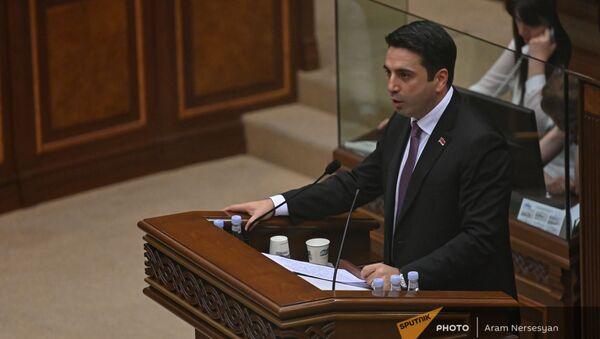 Ален Симонян во время первого заседания парламента Армении 8-го созыва (2 августа 2021). Еревaн - Sputnik Армения