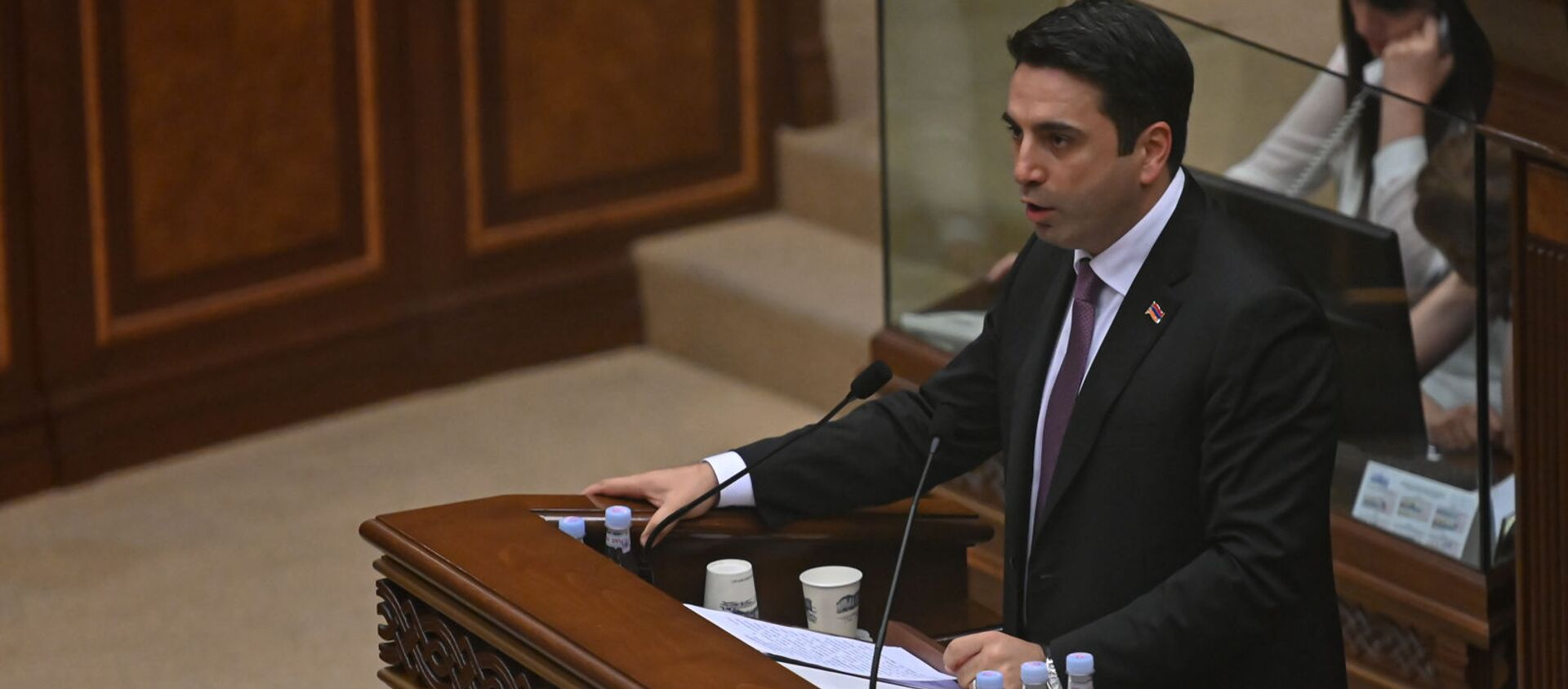 Ален Симонян во время первого заседания парламента Армении 8-го созыва (2 августа 2021). Еревaн - Sputnik Армения, 1920, 03.08.2021