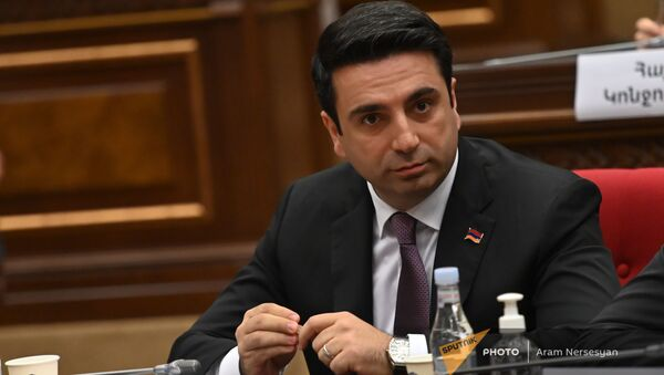 Ален Симонян во время первого заседания парламента Армении 8-го созыва (2 августа 2021). Еревaн - Sputnik Արմենիա