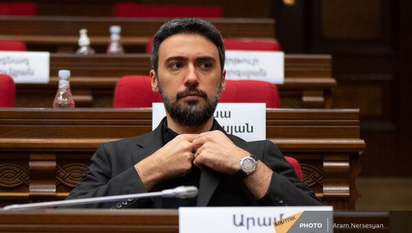 Арам Вардеванян на заседании Парламента (4 августа 2021). Еревaн - Sputnik Արմենիա