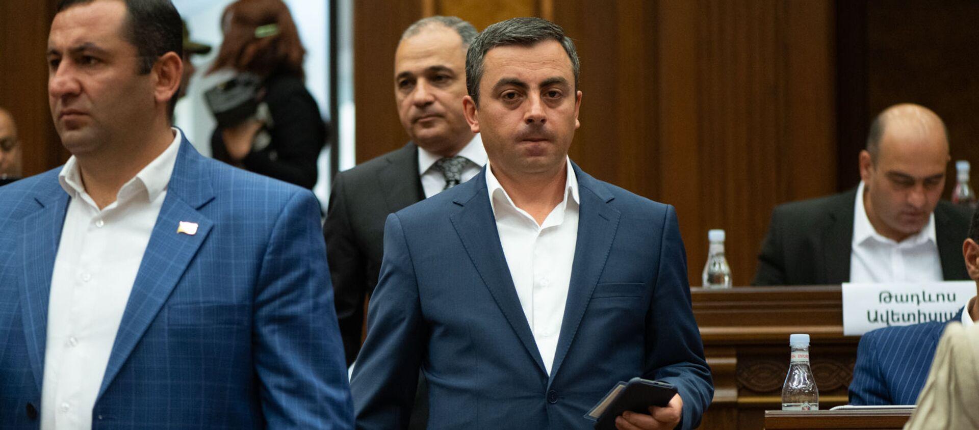 Ишхан Сагателян на заседании Парламента (4 августа 2021). Еревaн - Sputnik Արմենիա, 1920, 05.08.2021