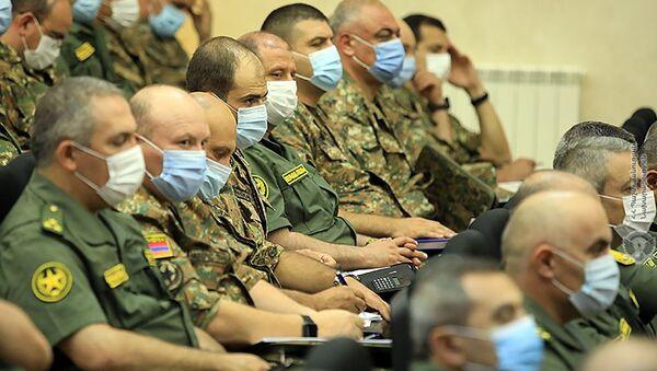 Заседание коллегии при министре обороны в административном комплексе Министерства обороны (5 августа 2021). Еревaн - Sputnik Армения