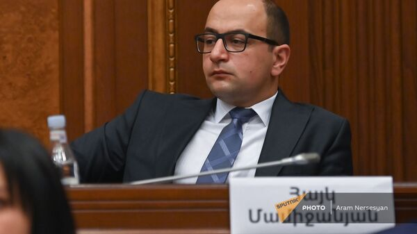 Айк Мамиджанян на заседании Парламента - Sputnik Արմենիա