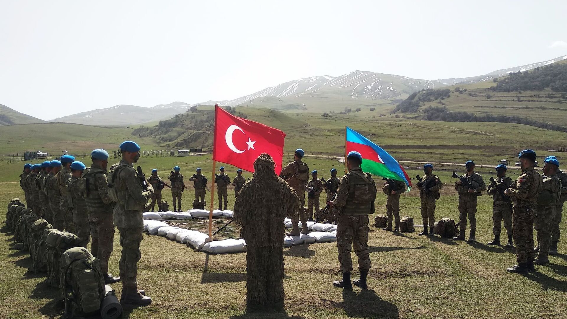 Совместные тактические учения Турции и Азербайджана - Sputnik Армения, 1920, 16.09.2021