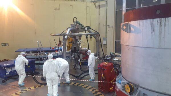 Работы по литью металла корпуса реактора энергоблока АЭС №2 - Sputnik Արմենիա