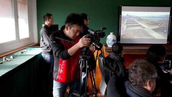 Археологи представили артефакты времен династии Восточная Хань на пресс-конференции в Пекине (8 декабря 2016). Китай - Sputnik Արմենիա