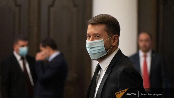 Министр юстиции Карен Андреасян на заседании правительства (6 августа 2021). Еревaн - Sputnik Արմենիա