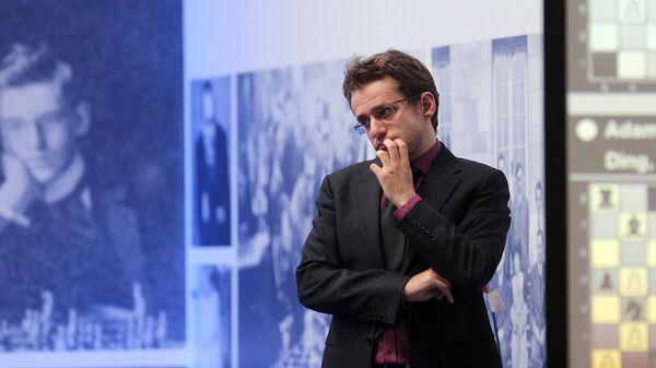 Левон Аронян во время финального матча против французского Максима Вашье-Лаграва на шахматном турнире Мемориала Алехина в Санкт-Петербурге - Sputnik Արմենիա