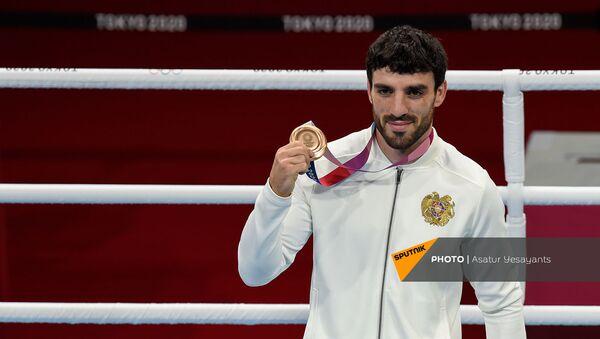 Церемония награждения боксеров XXXII летней Олимпиады в Токио - Sputnik Армения