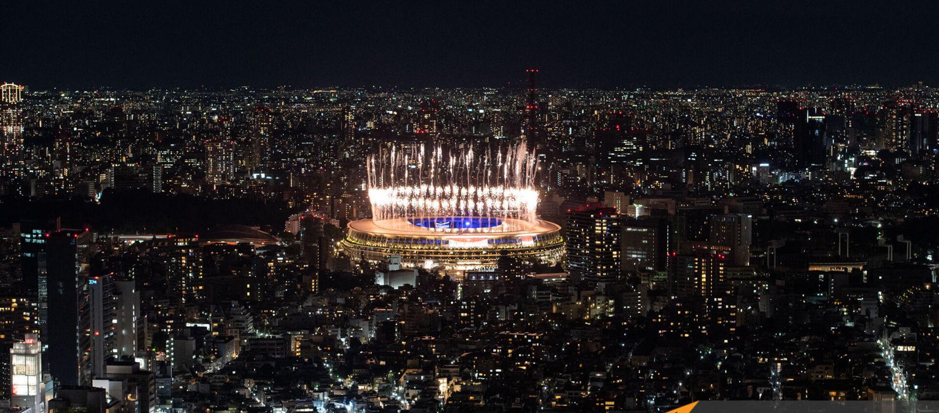 32–րդ ամառային օլիմպիական խաղերի փակման հանդիսավոր արարողության հրավառությունը - Sputnik Արմենիա, 1920, 08.08.2021