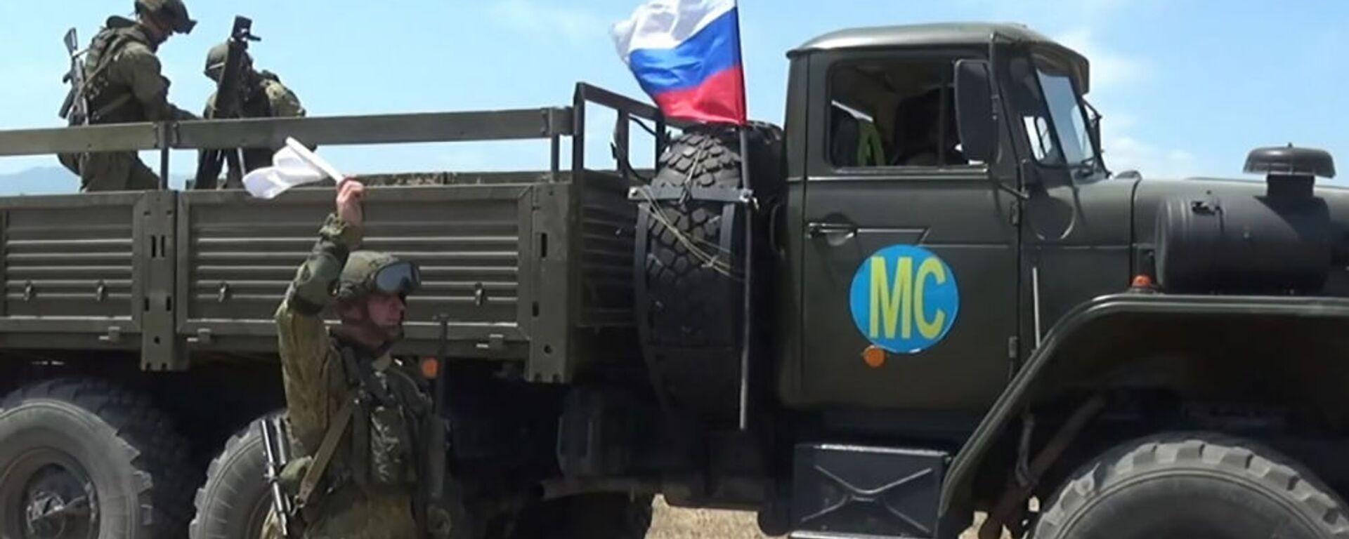 Российские миротворцы впервые отработали тактику действий «кочующего» миномета в горах Нагорного Карабаха - Sputnik Արմենիա, 1920, 30.08.2021