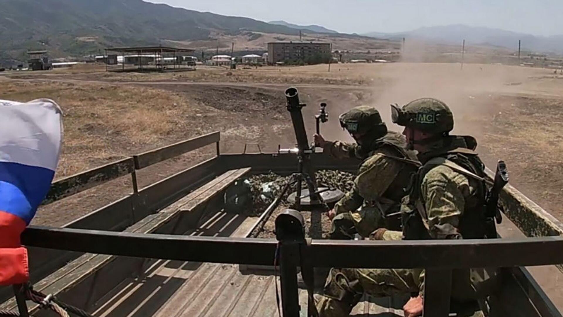 Российские миротворцы впервые отработали тактику действий «кочующего» миномета в горах Нагорного Карабаха - Sputnik Армения, 1920, 18.09.2021