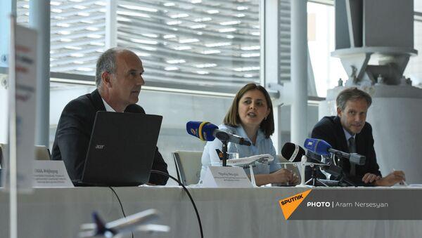 Презентация рейса Франкфурт-Ереван в аэропорту Звартноц (12 августа 2021). Еревaн - Sputnik Армения