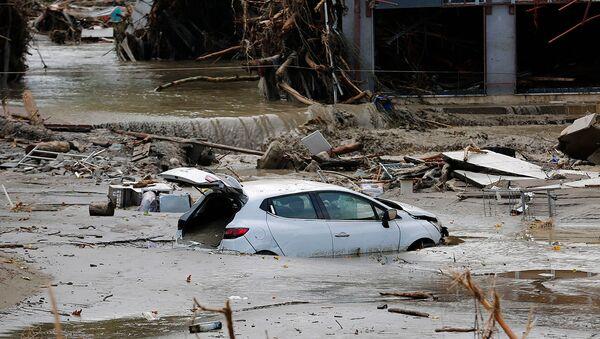 Разрушения, вызванные паводковыми водами в городе Бозкурт турецкой провинции Кастамону (12 августа 2021). Турция - Sputnik Արմենիա